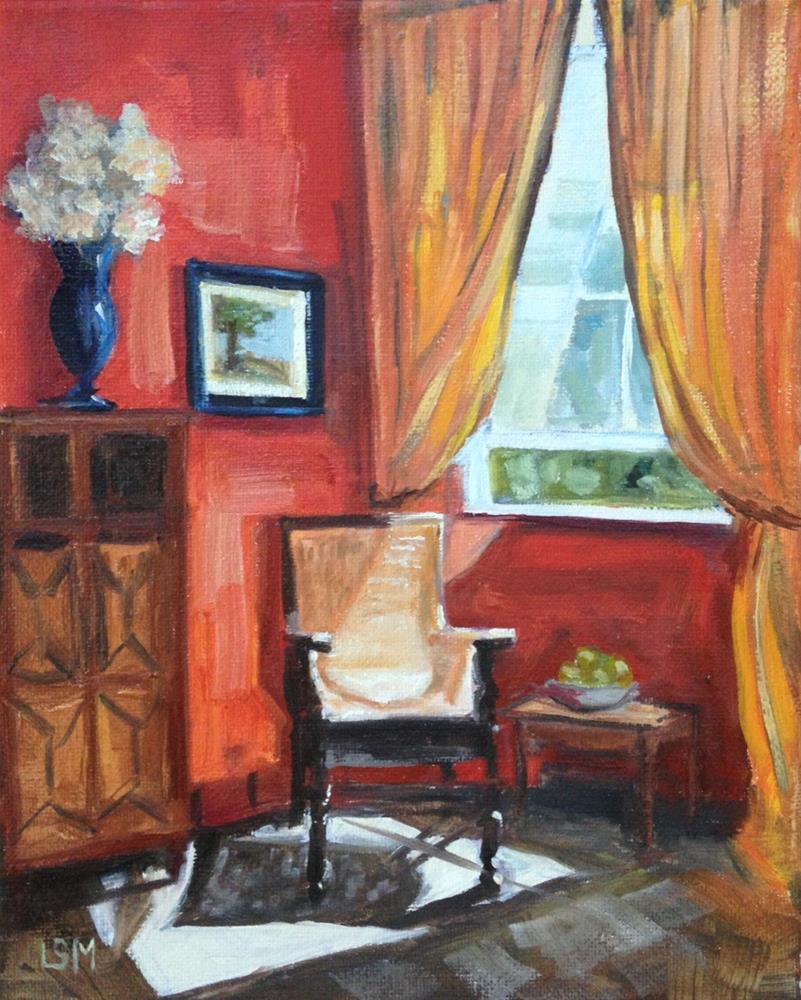 """Chair in the Sunshine"" original fine art by Linda Marino"