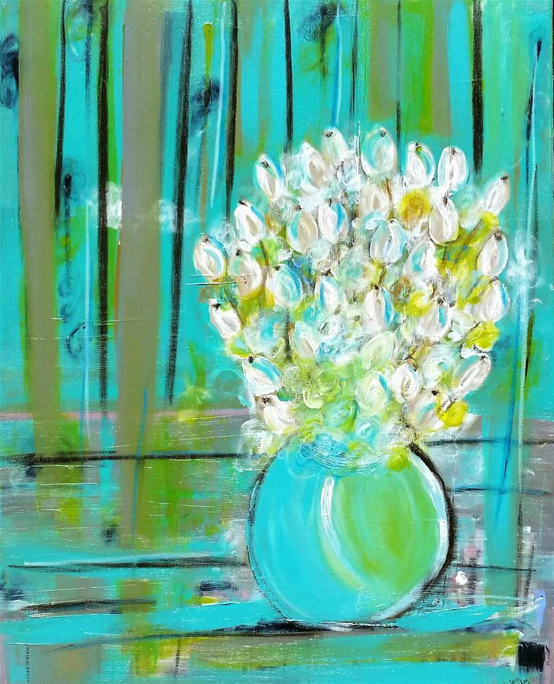 """Winter Blooms"" original fine art by Christy Tremblay"