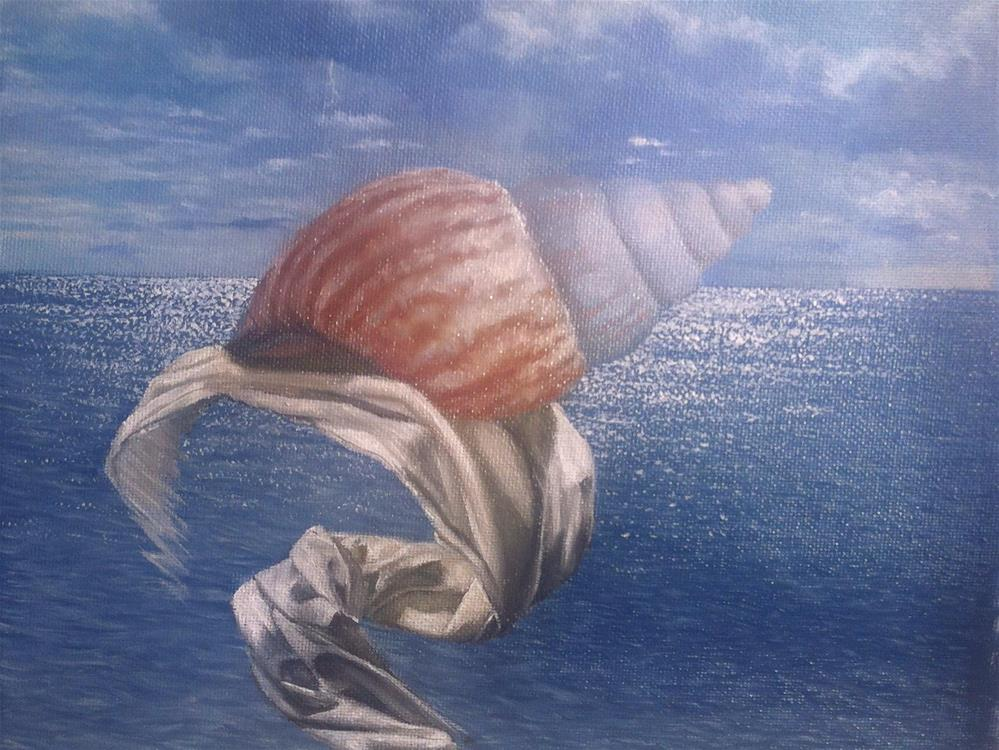 """Work in progress – seashell"" original fine art by Paulo Jimenez"