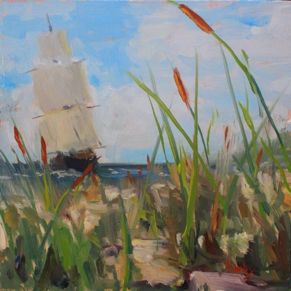 """Tails of the Sea"" original fine art by Randall Cogburn"