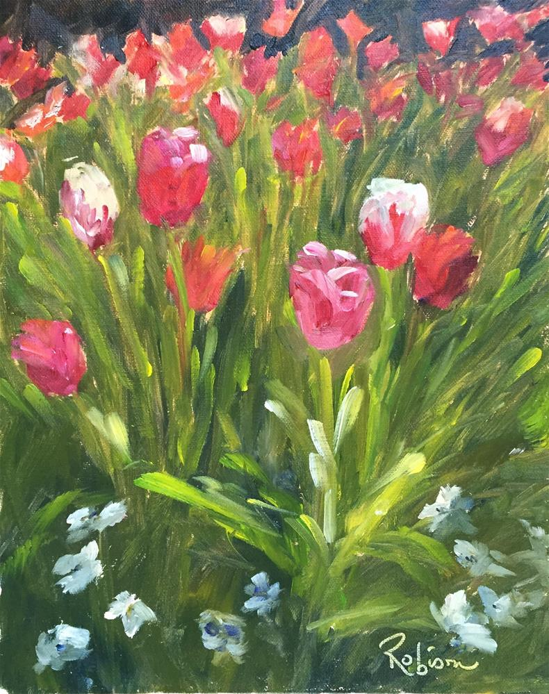 """Spring Blooms"" original fine art by Renee Robison"