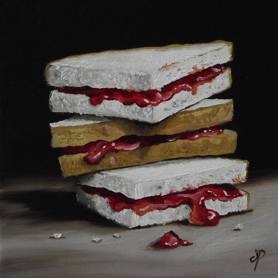 """Jam Butties"" original fine art by Jane Palmer"