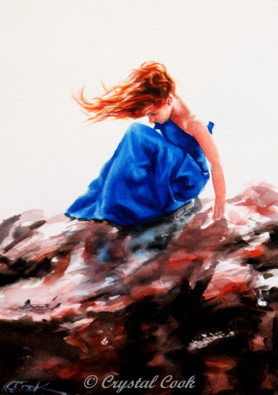"""She Stood in the Storm"" original fine art by Crystal Cook"
