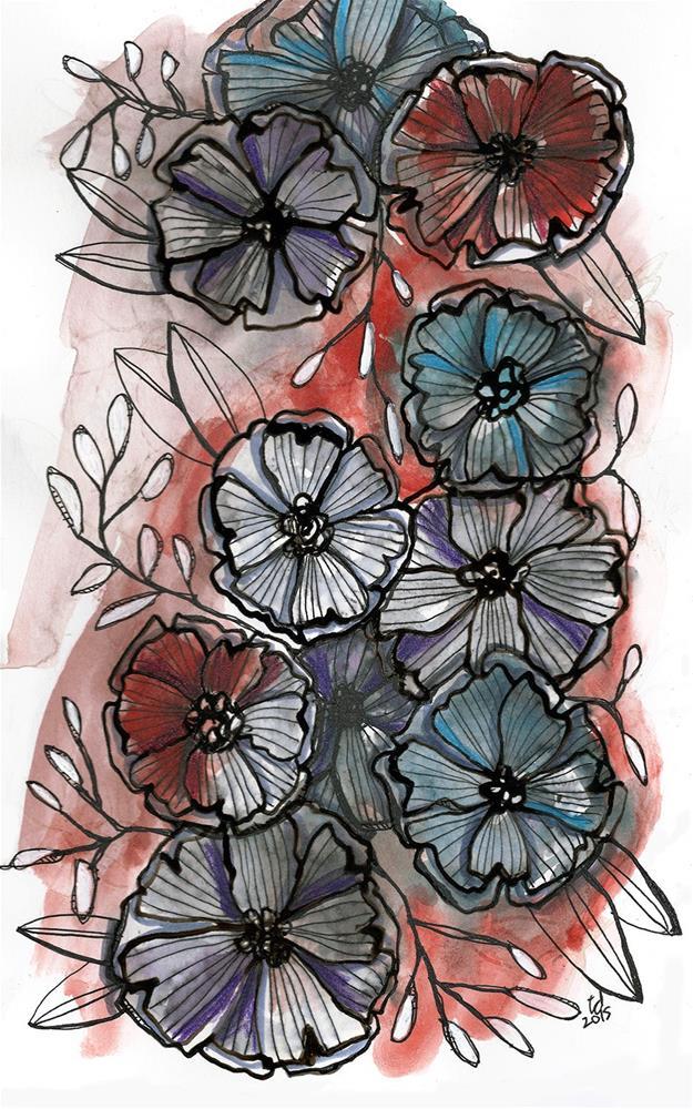 """Pocket Full of Posies"" original fine art by Tonya Doughty"