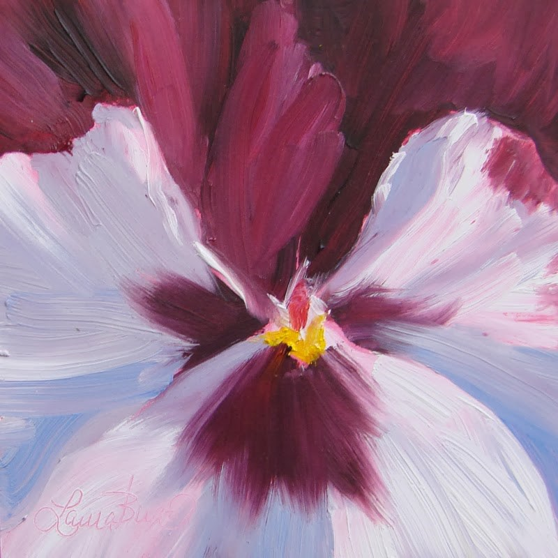 """Pansy Time 111"" original fine art by Laura  Buxo"