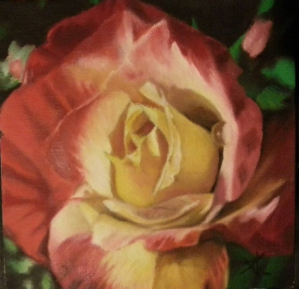 """Rose with drop"" original fine art by Konstantia Karletsa"