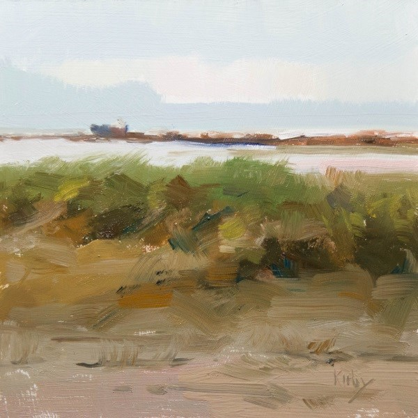 """East Jetty"" original fine art by Randall Cogburn"