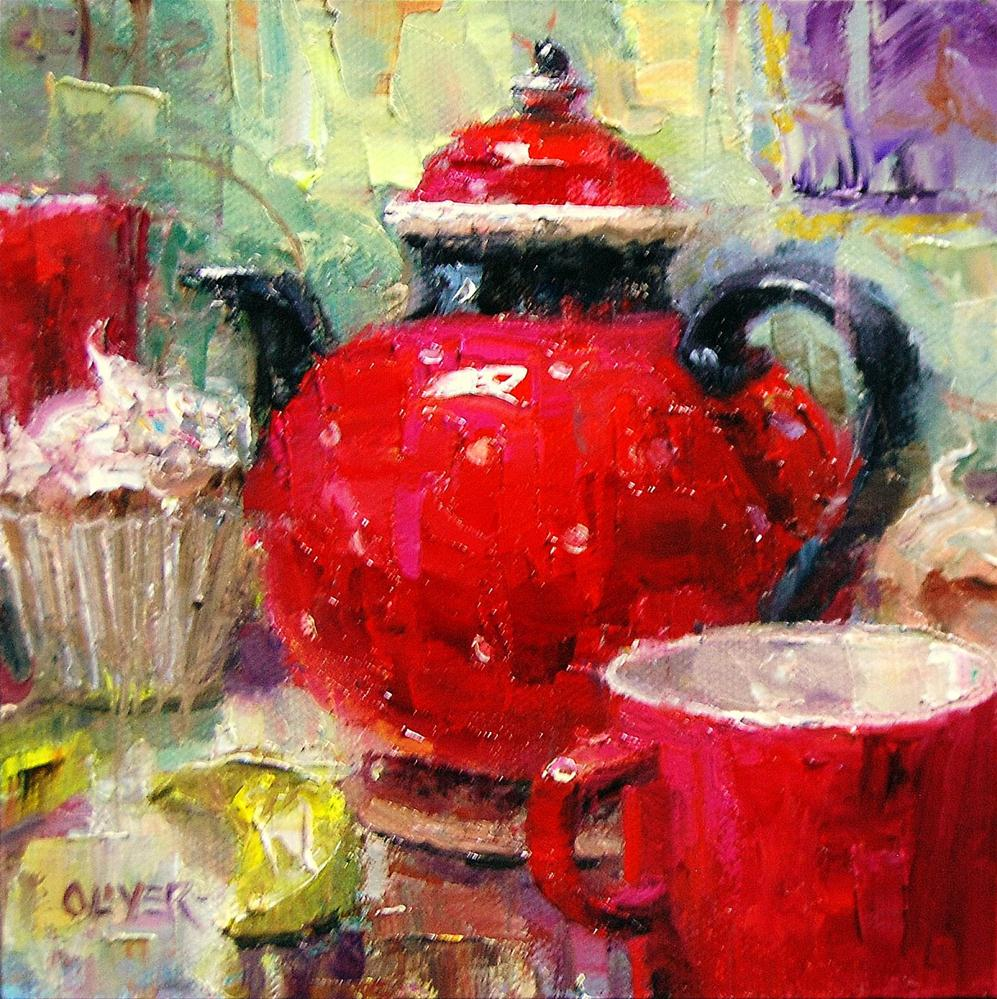 """Tea  for Two"" original fine art by Julie Ford Oliver"