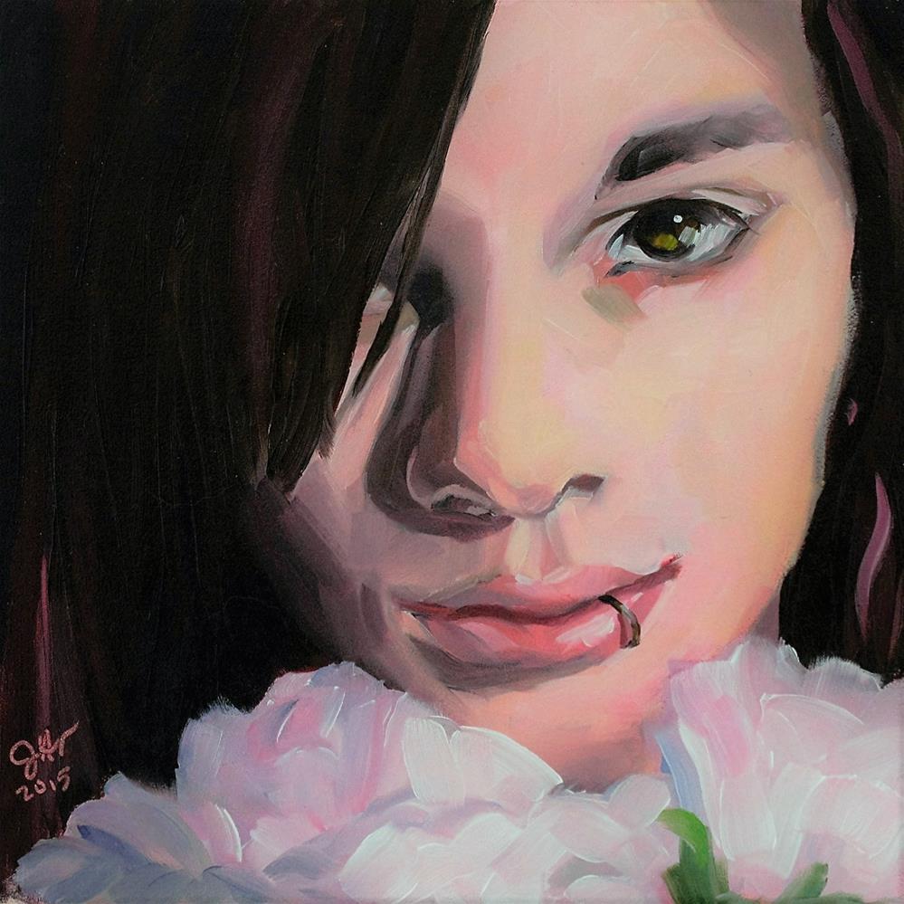 """Peony"" original fine art by Janette Harter"