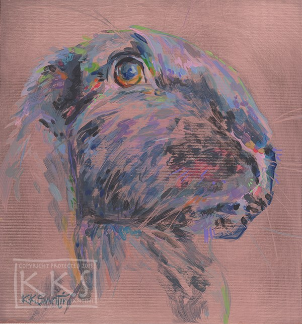 """Luna Lapin, a painting on copper"" original fine art by Kimberly Santini"