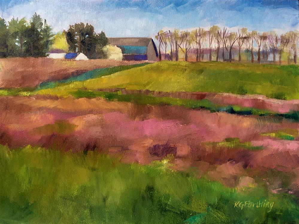 """Mauve Fields"" original fine art by Kathleen Gray Farthing"