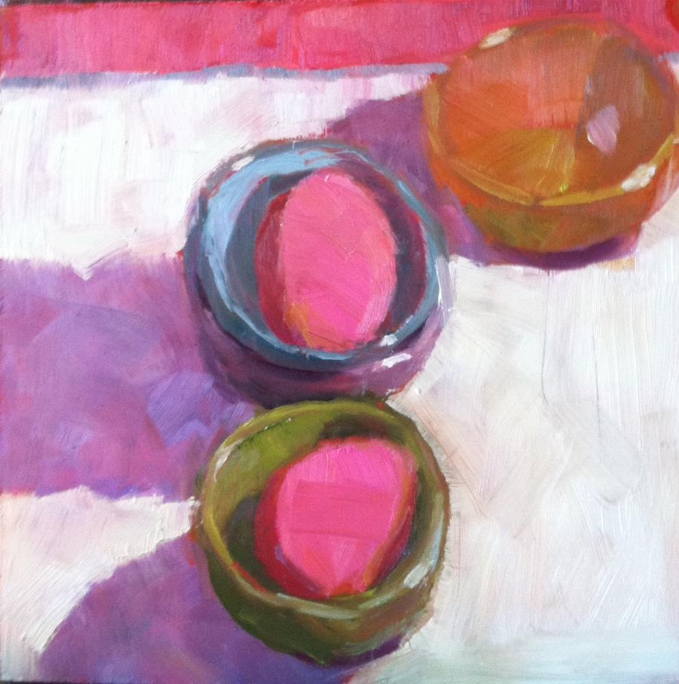 """Two Pink Eggs"" original fine art by Katharine March"