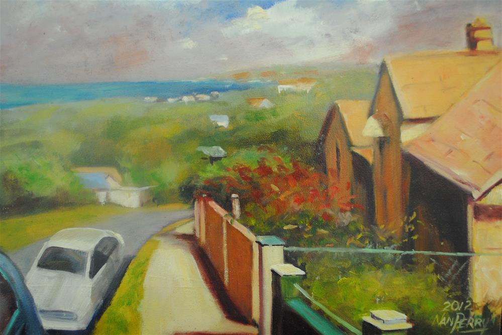 """Collie's Drive"" original fine art by Nan Perry"