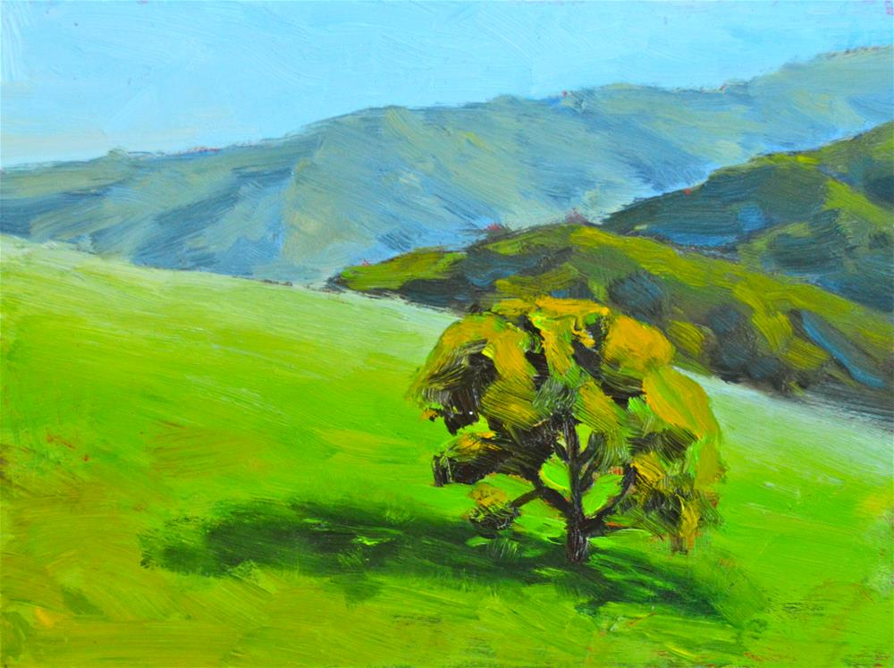 """Los Altos Hills"" original fine art by Peter Bain"