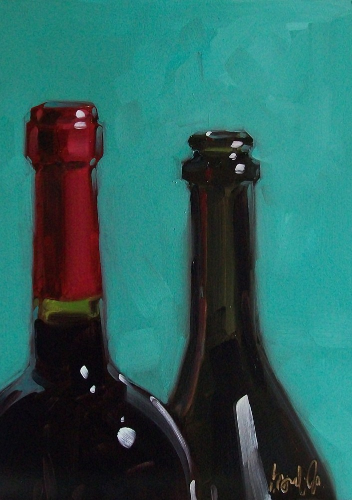 """Wino 34"" original fine art by Brandi Bowman"