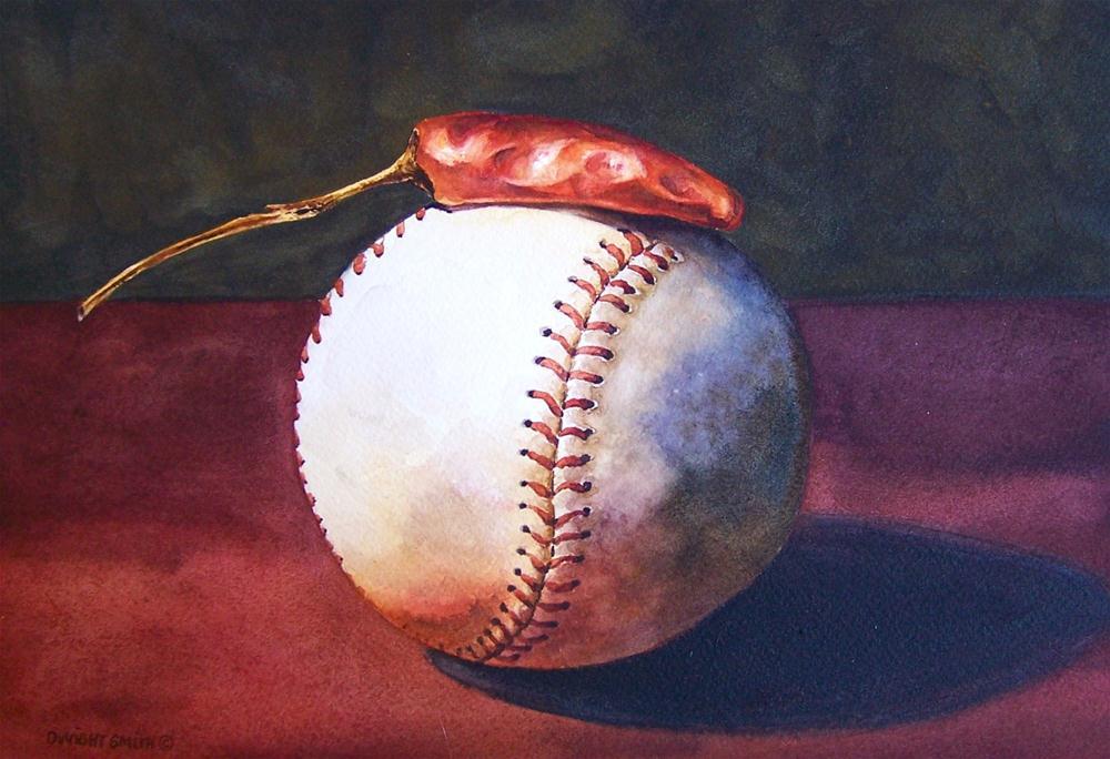""" THROW-IN HEAT "" original fine art by Dwight Smith"