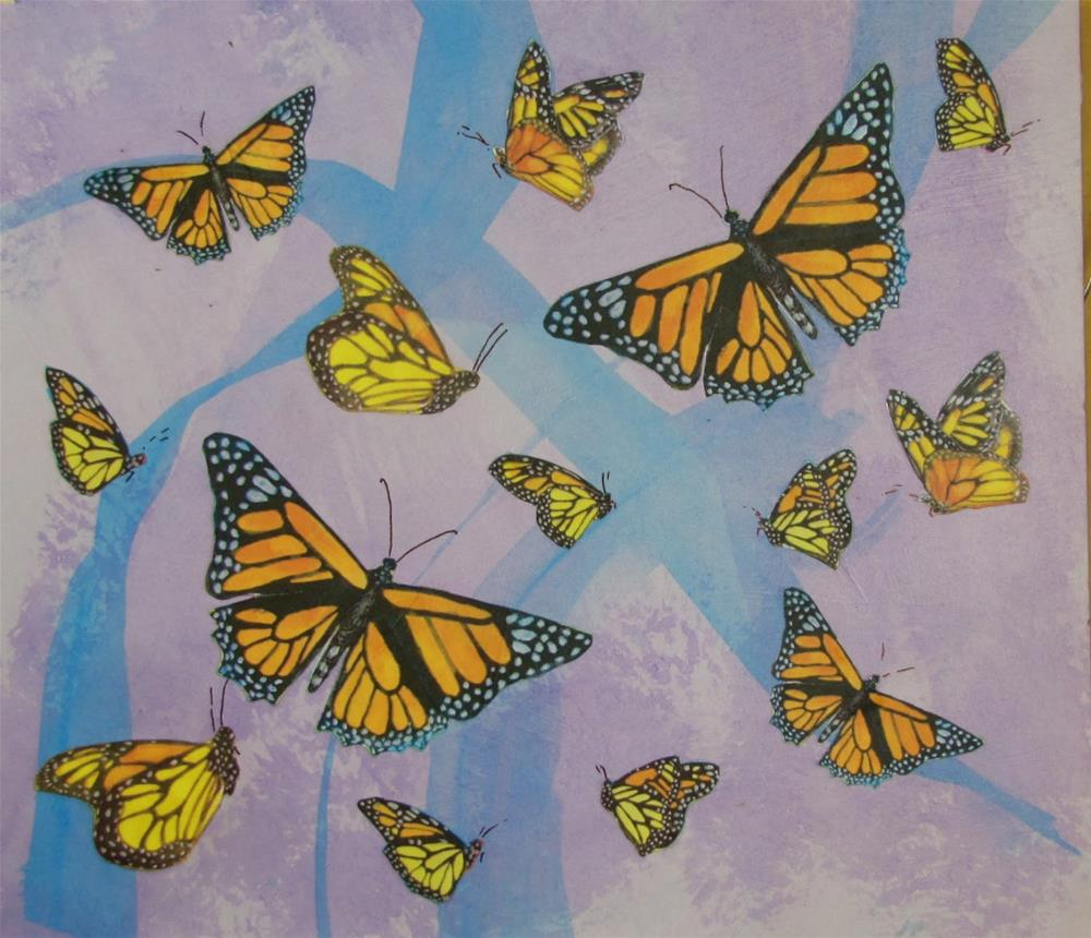 """Monarch #11"" original fine art by Christine Holzschuh"