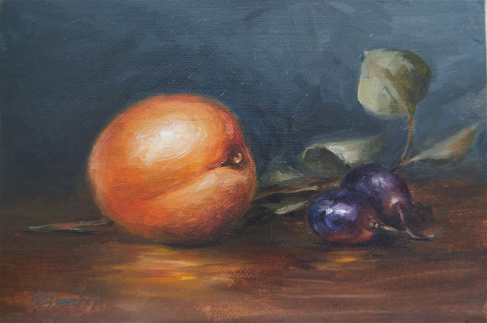 """Still Life with Kumquat and Grapes"" original fine art by Carolina Elizabeth"