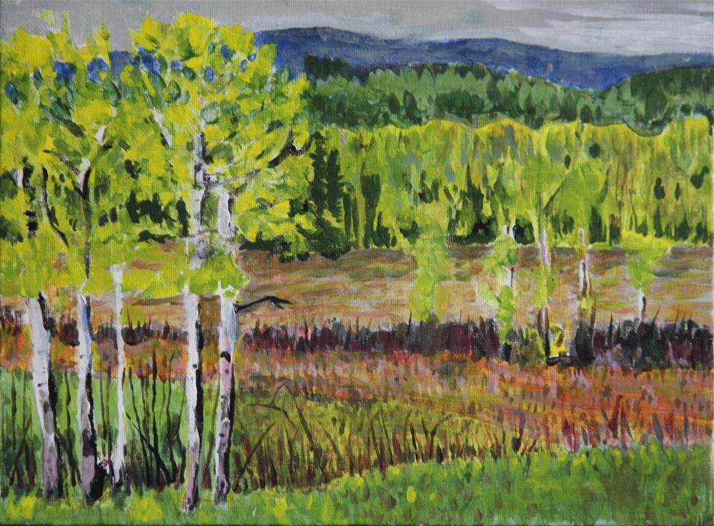 """Looking Across The Builkey River"" original fine art by Terri-Anne Barge"