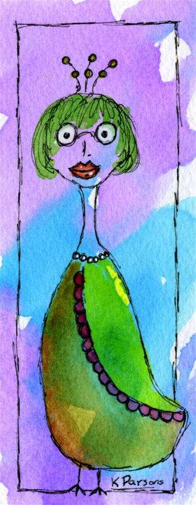 """Smarty Bird"" original fine art by Kali Parsons"