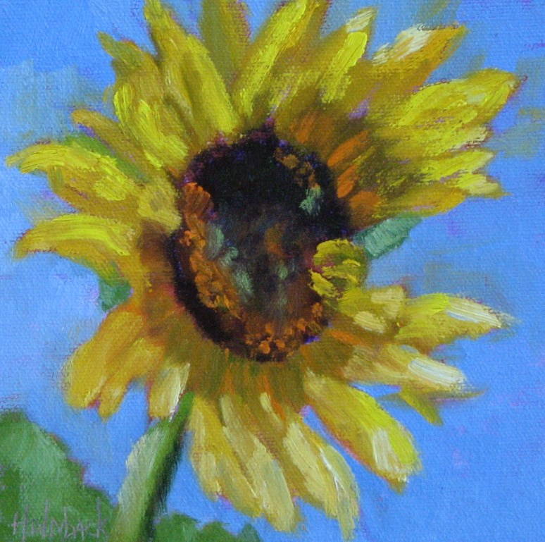 """Sunflower"" original fine art by Pam Holnback"