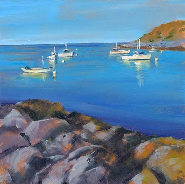 """Monhegan Harbor"" original fine art by Brenda Ferguson"