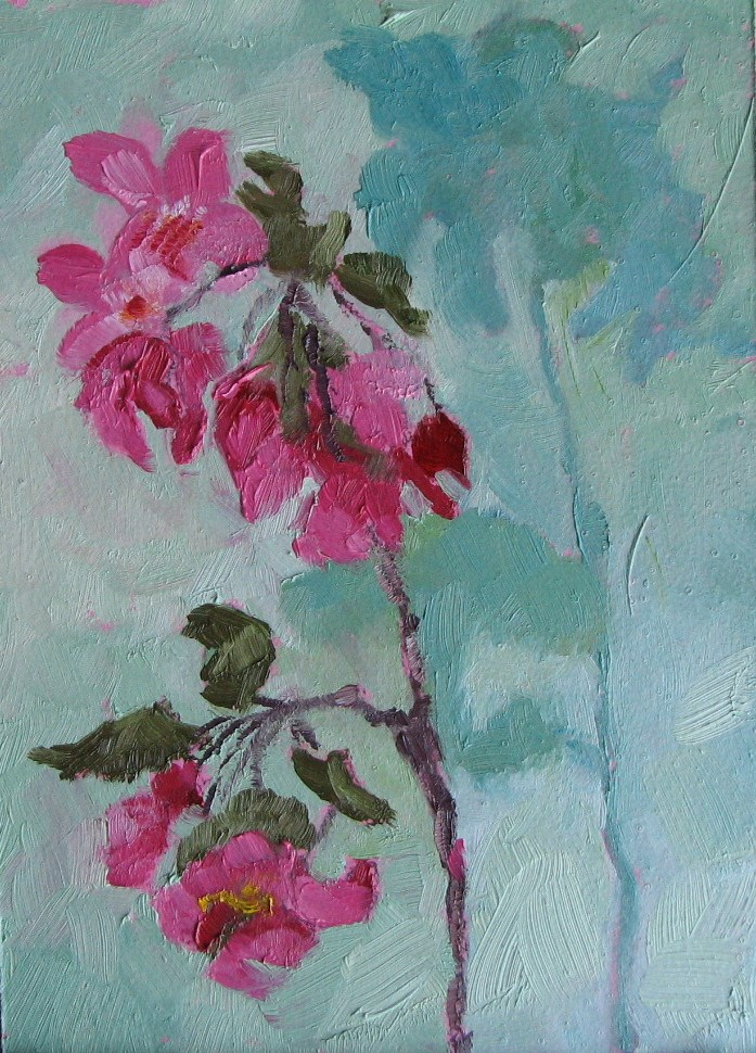"""Crab Apple 4"" original fine art by Pam Holnback"