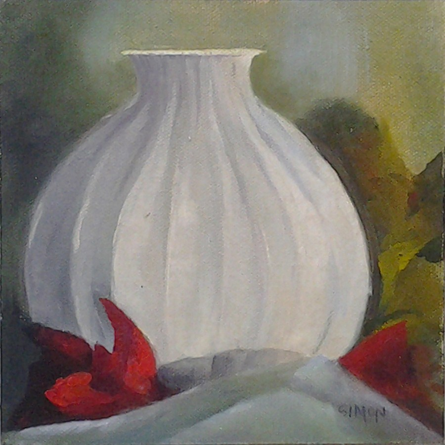 """Onion Vase"" original fine art by A.K. Simon"