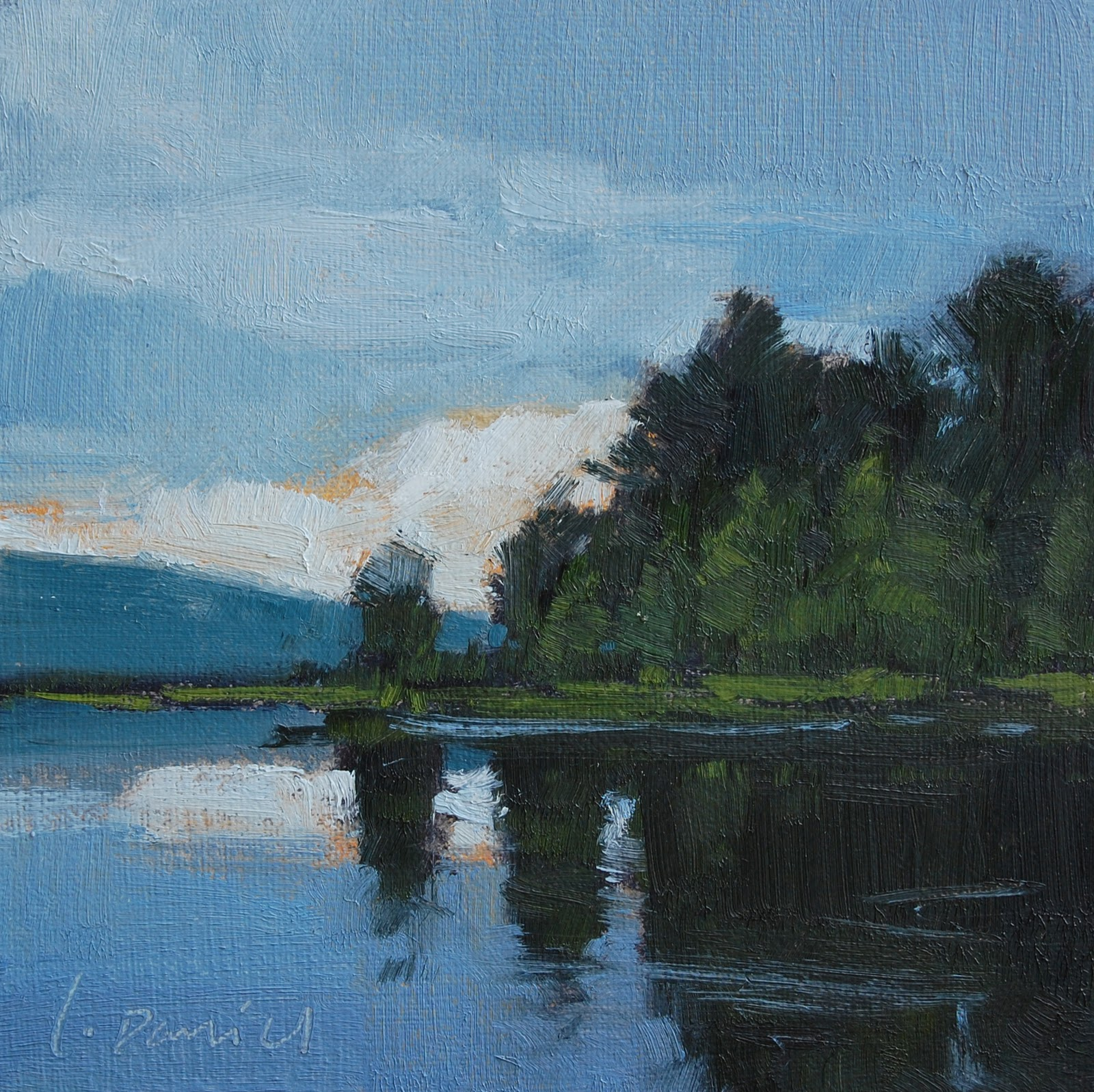 """Blue Dusk"" original fine art by Laurel Daniel"