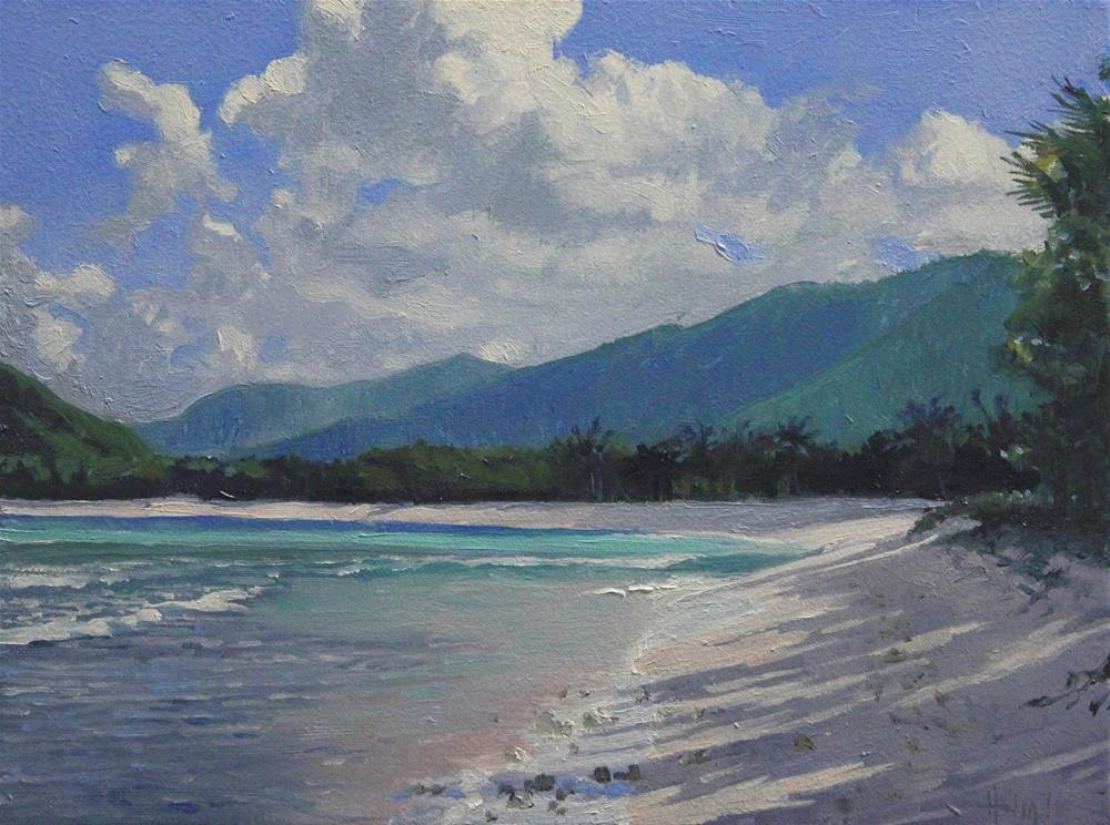 """Morning On The Beach"" original fine art by Ski Holm"