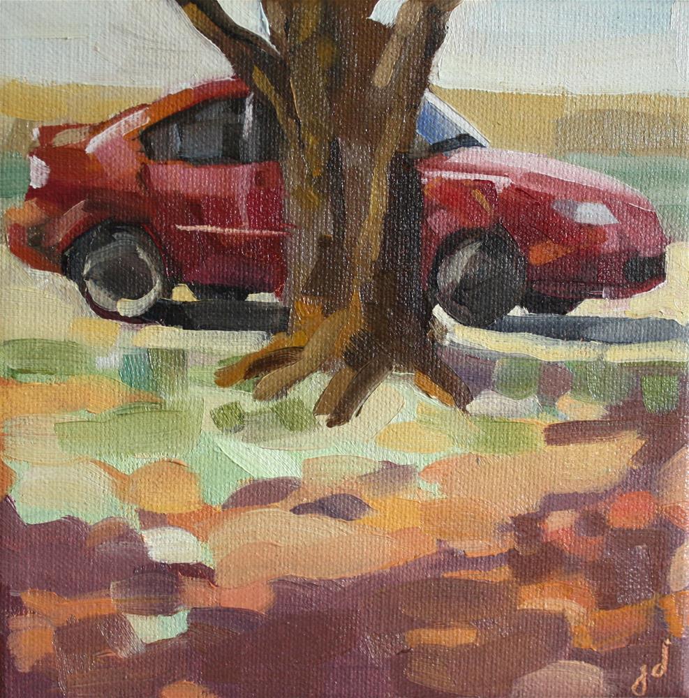 """""""Mazda En Plein Air"""" original fine art by Jessie Dodington"""