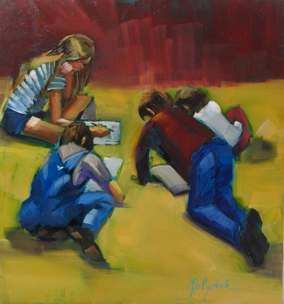 """Home School"" original fine art by Christine Holzschuh"