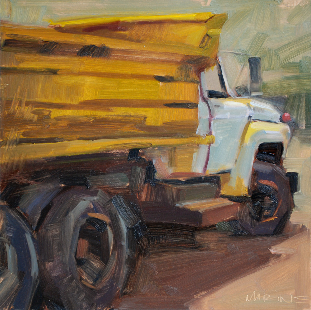 """All Dumped Out"" original fine art by Carol Marine"