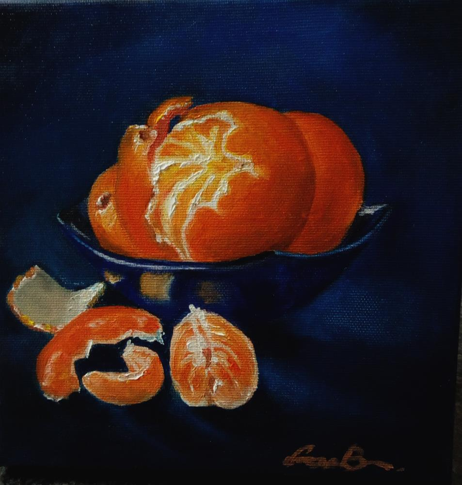 """Still Life With Oranges"" original fine art by Laura B."
