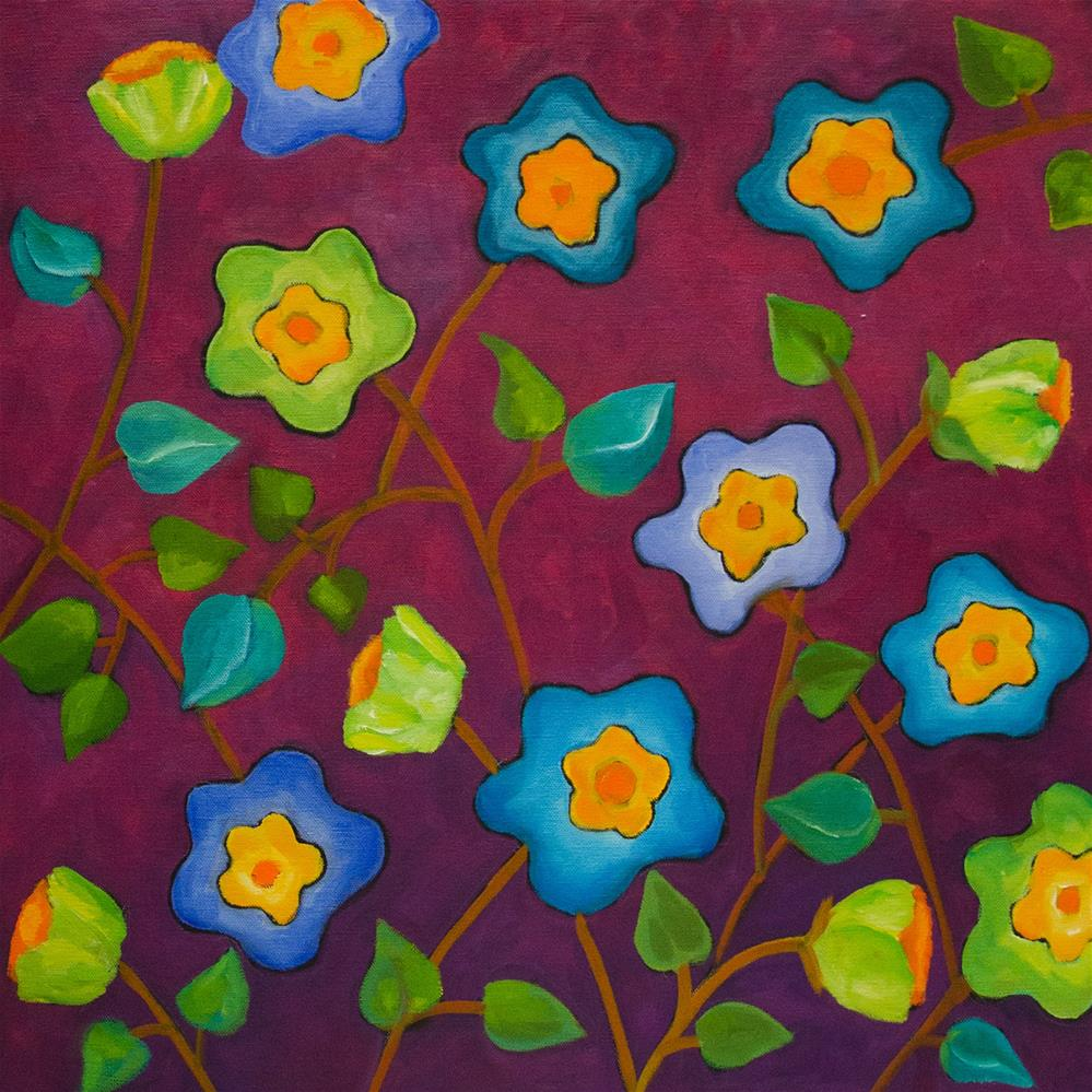 """Plum Flowers"" original fine art by Susan Bertocci"