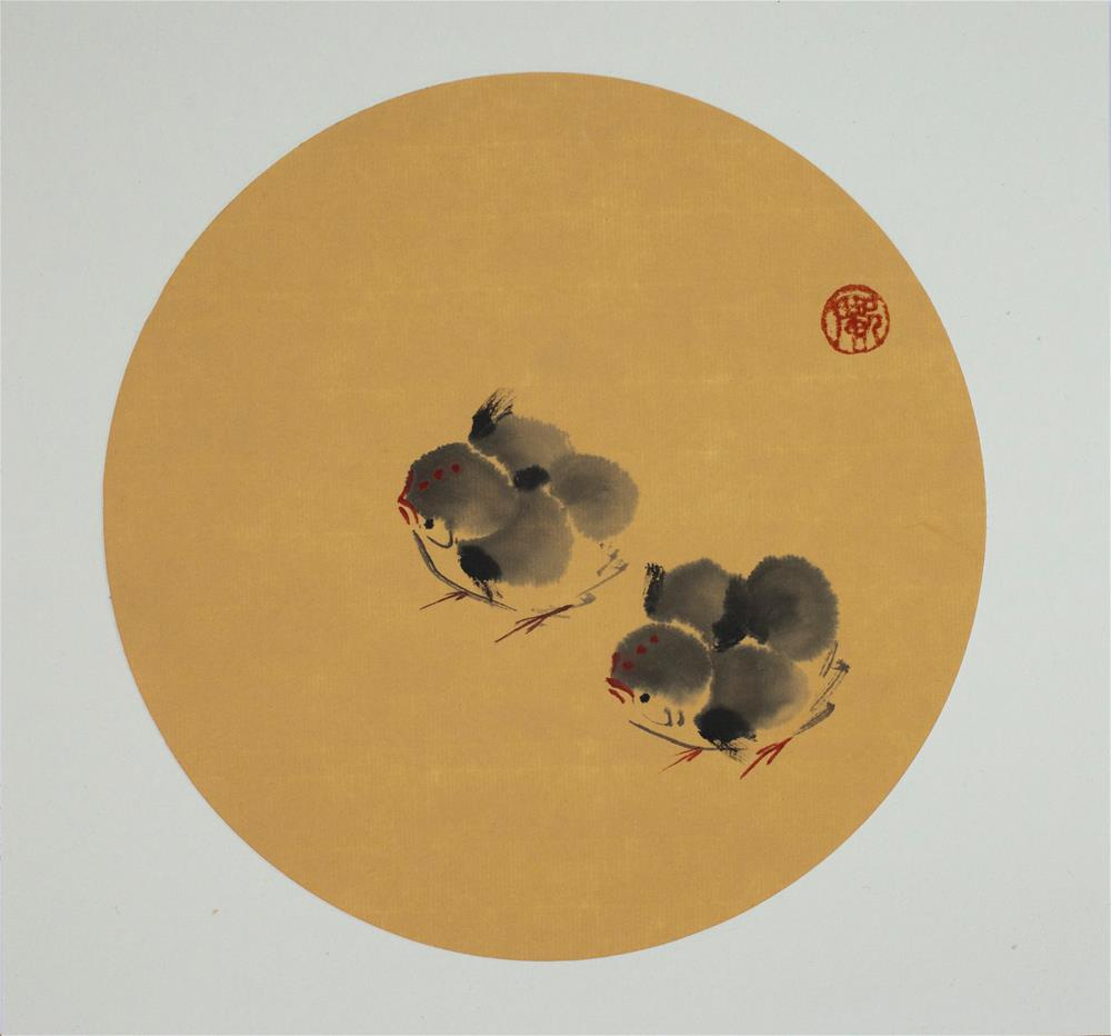 """Baby Chicks"" original fine art by R kwong"