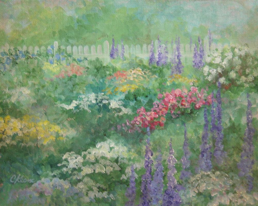 """Peg's Front Garden"" original fine art by Carol Keene"