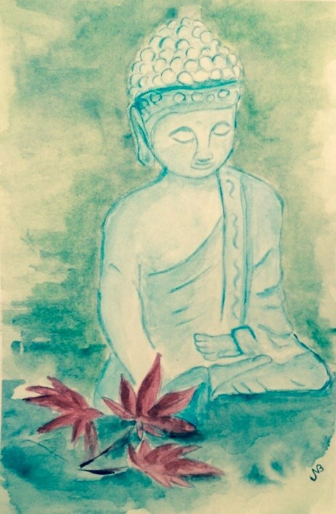 """Calm watercolor 9' x 6"" original fine art by Nancy Beard"