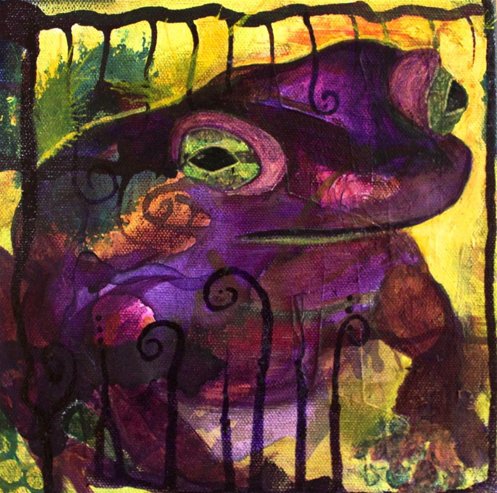 """""""#108 The Toad"""" original fine art by Silke Powers"""