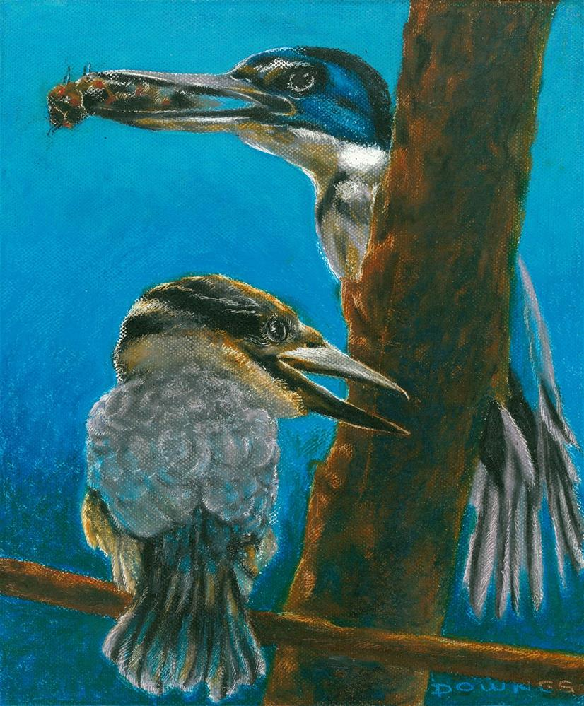 """333 SACRED KINGFISHER 1"" original fine art by Trevor Downes"