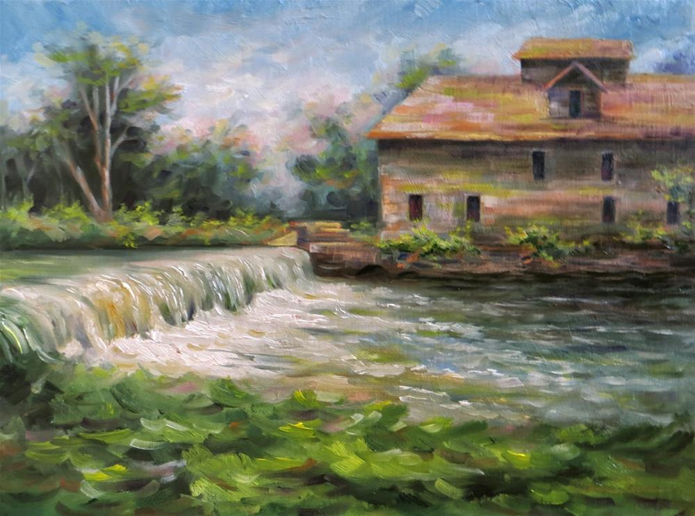 """Historic Jolly Mill"" original fine art by Tammie Dickerson"