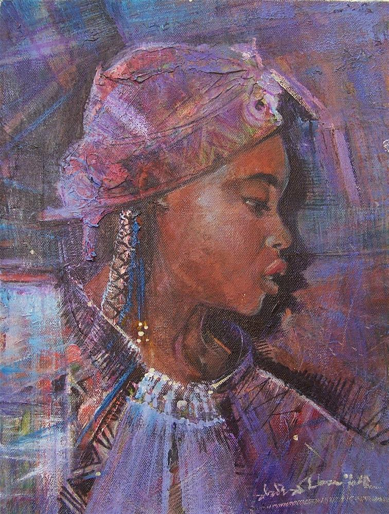 """Her Spirit"" original fine art by Adebanji Alade"