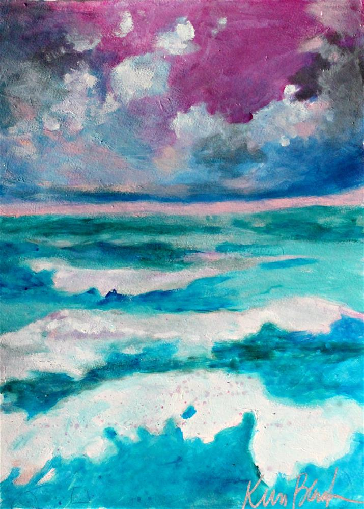 """Waves "" original fine art by Kerri Blackman"