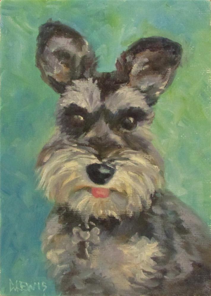 """Ziggy"" original fine art by Christine Lewis"