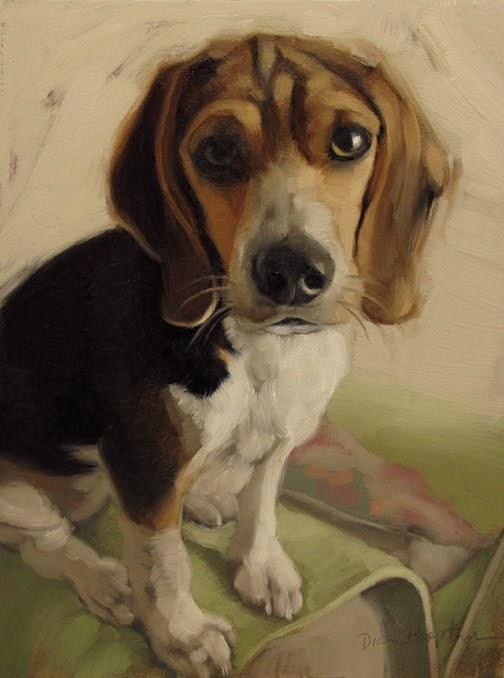 """Hoeptner Year in Review plus Molly the Beagle"" original fine art by Diane Hoeptner"
