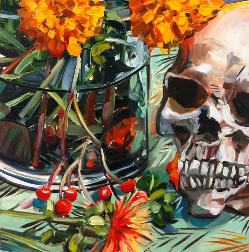 """Day of the Dead"" original fine art by Katy O'Connor"