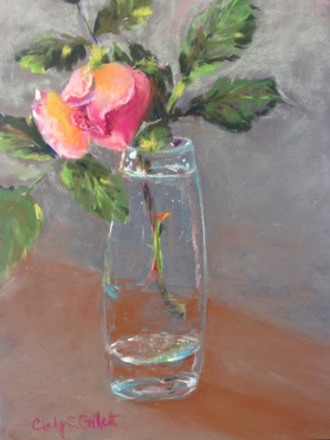 """Tea Rose"" original fine art by Cindy Gillett"