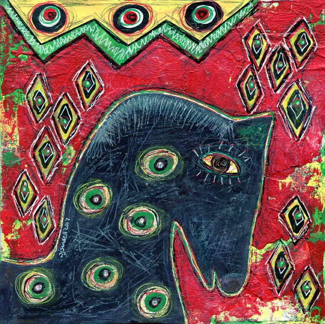 """Black Horse"" original fine art by Sonja Sandell"