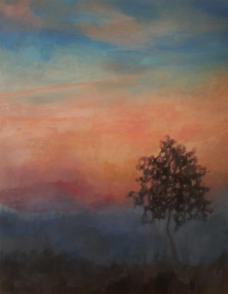 """Sunset Haze"" original fine art by Nava Judith"