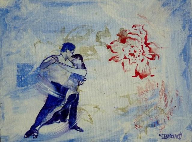 """""""a dance"""" original fine art by Claudia Brandt"""
